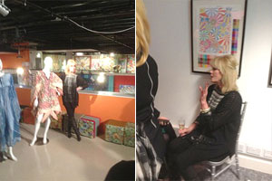 Joanna Lumley at Fashion and Textile museum